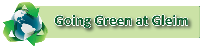 Going Green at Gleim