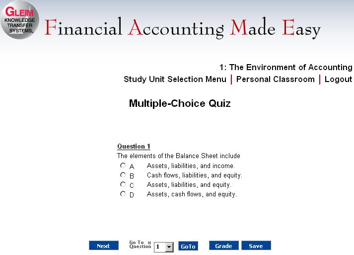 ACCT 530 Exam Preparation MCQs Chapter 1 – 7