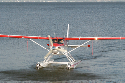 Image of seaplane taking off