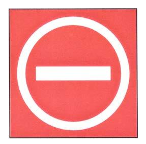 A graphic depicting a sign prohibiting aircraft entry into an area.