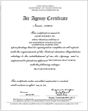 Air Agency Certificate
