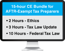 Gleim AFSP 15-Hour CE Bundle for AFTR-Exempt Tax Preparers