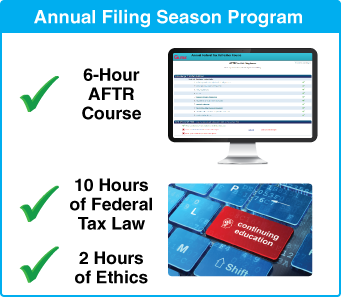 Gleim Annual Filing Season Program: 18-hour CE set including the 6-hour AFTRC