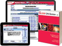 CPA Auditing Review System (Book, Test Prep, Audio Review, Gleim Online, Exam Rehearsal, & Simulation Wizard)