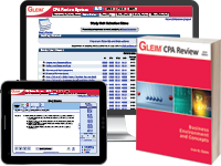CPA Business Review System (Book, Test Prep, Audio Review, Gleim Online, Exam Rehearsal, & Simulation Wizard)