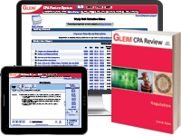 CPA Regulation Review System (Book, Test Prep, Audio Review, Gleim Online, Exam Rehearsal, & Simulation Wizard)