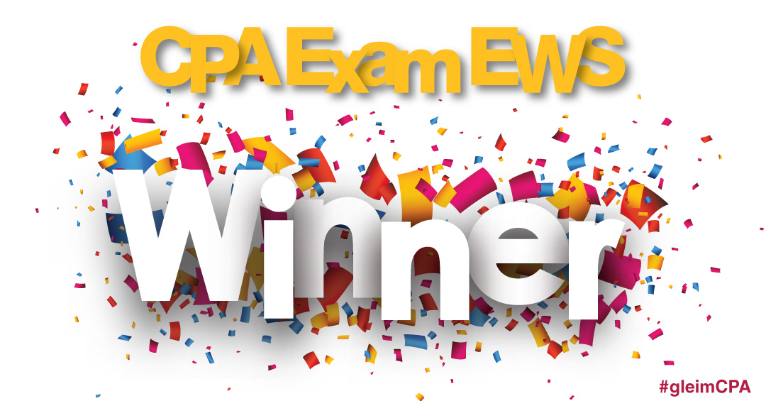 CPA Exam EWS Winner