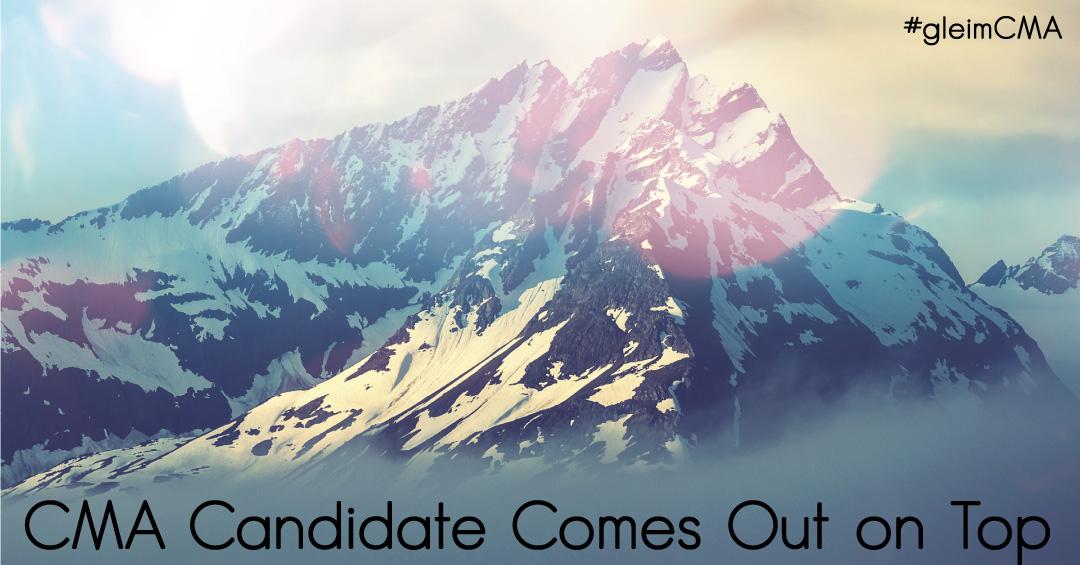 CMA candidates conquer mountain top using Gleim