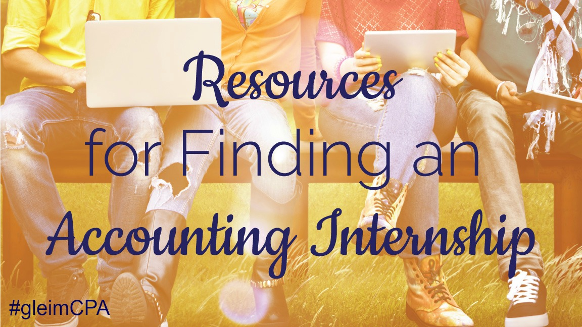 resources to find an accounting internship