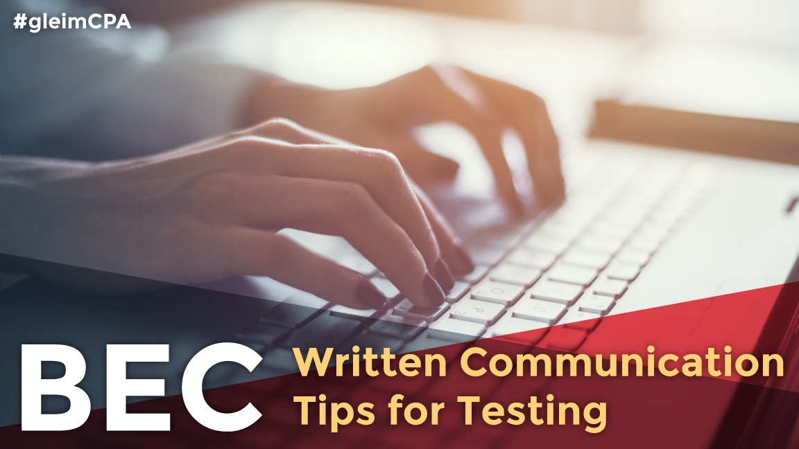 cpa bec written communication tips