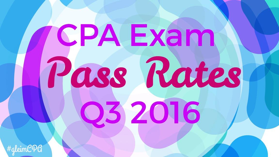 Q3 CPA pass rates