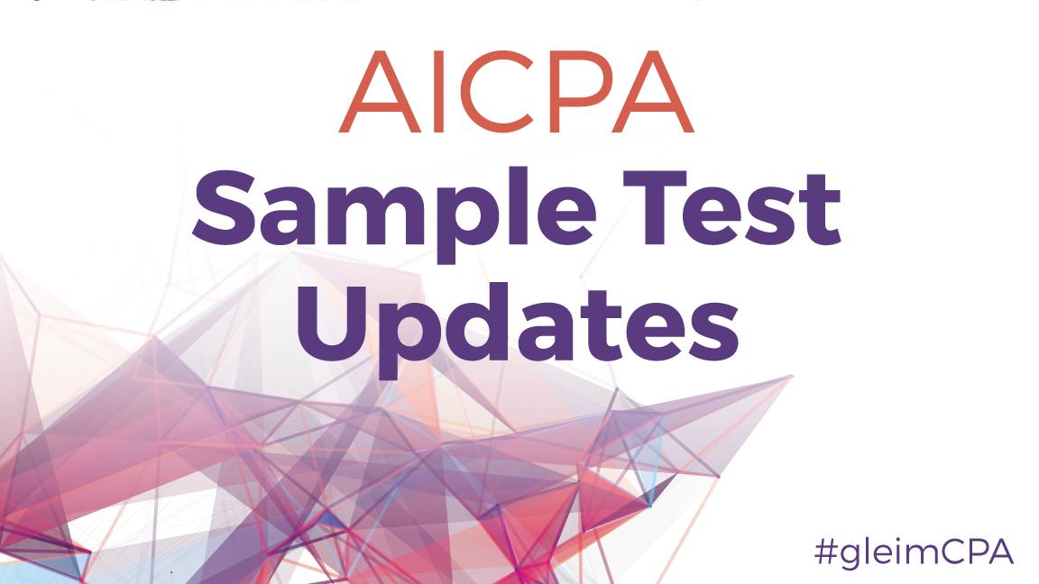new AICPA sample cpa exam