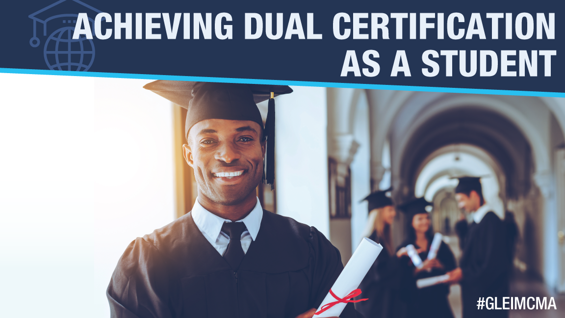 student achieving dual certification