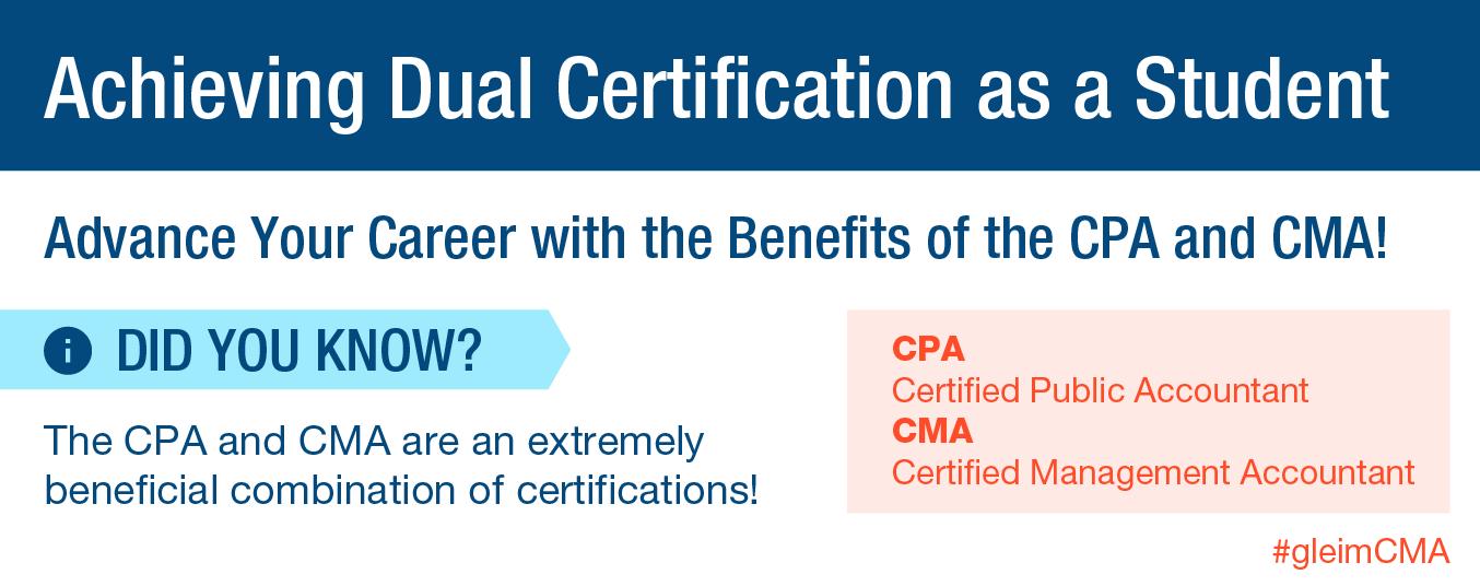 Achieving Dual Certification as a Student | Gleim CMA