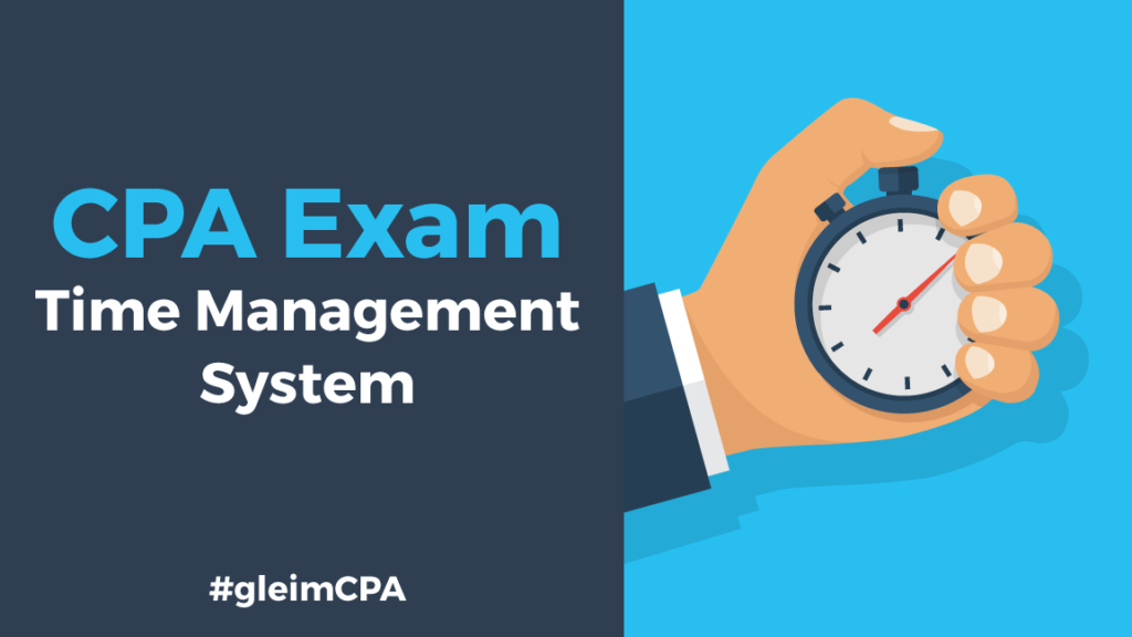 cpa exam time management system