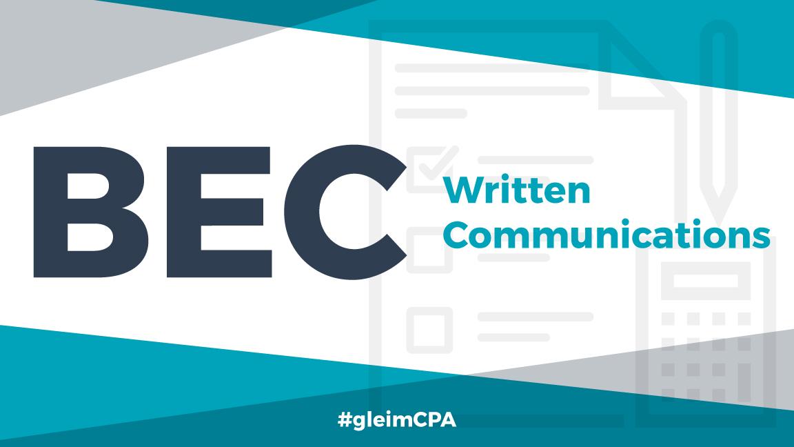 bec written communications
