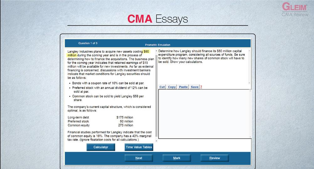 cma essay practice