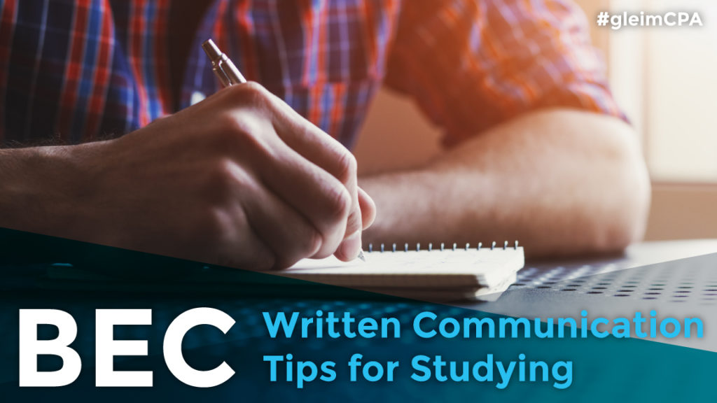 Tips for CPA BEC written communication section
