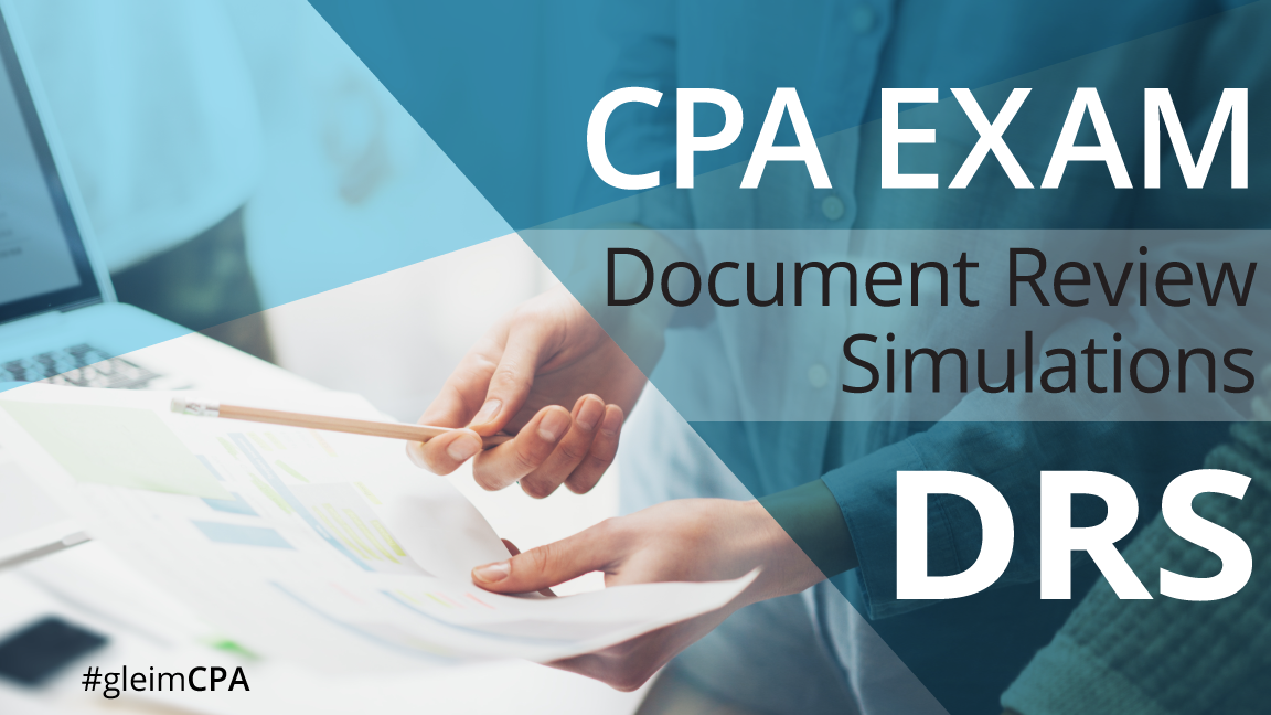 CPA exam document review simulations