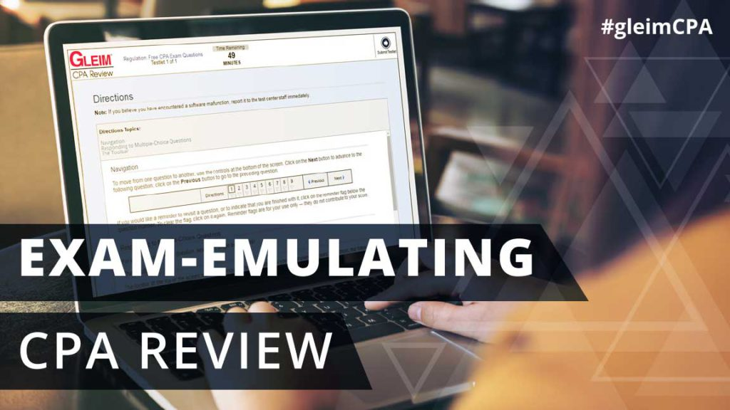 Exam-emulating cpa review