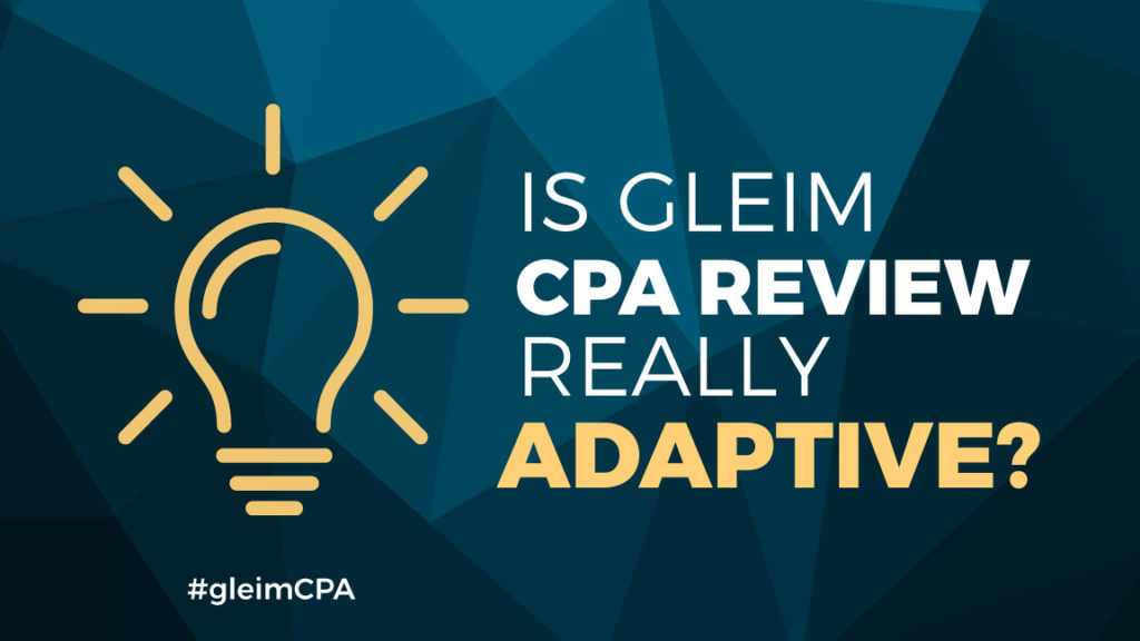 Is Gleim Review really adaptive?
