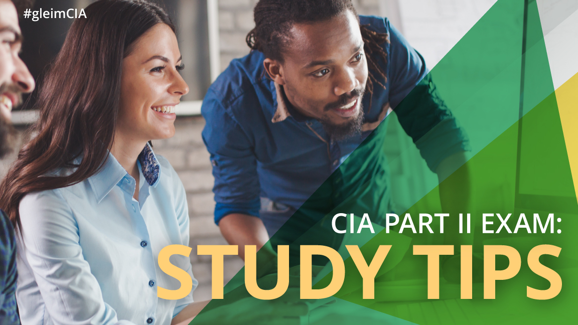 group of diverse people looking at computer studying for the CIA exam part 2