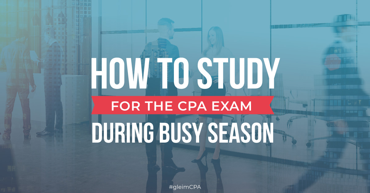 CPA candidates discussing busy season study tips at the office.