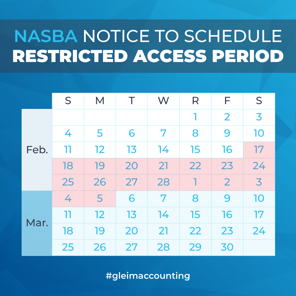 nasba notice to schedule (nts) lockout | gleim cpa
