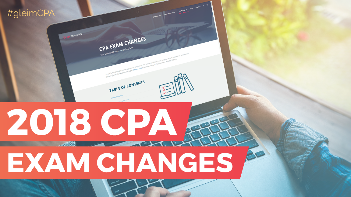 2018 cpa exam changes