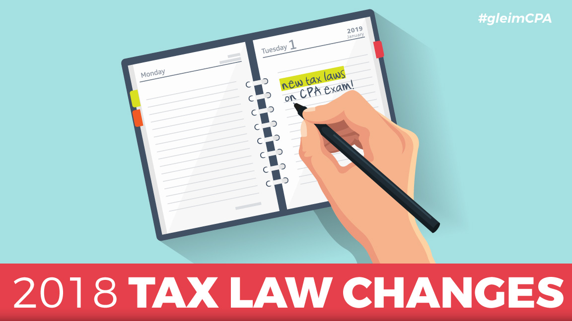 cpa exam 2018 tax laws