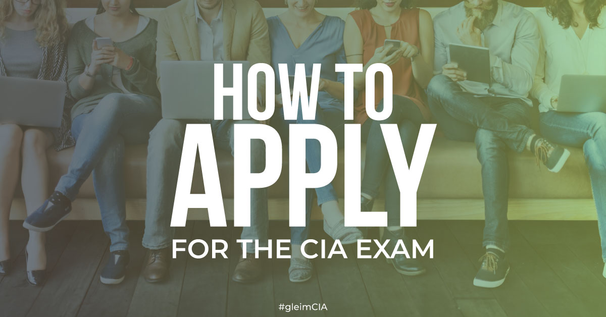 How to Apply for the CIA Exam