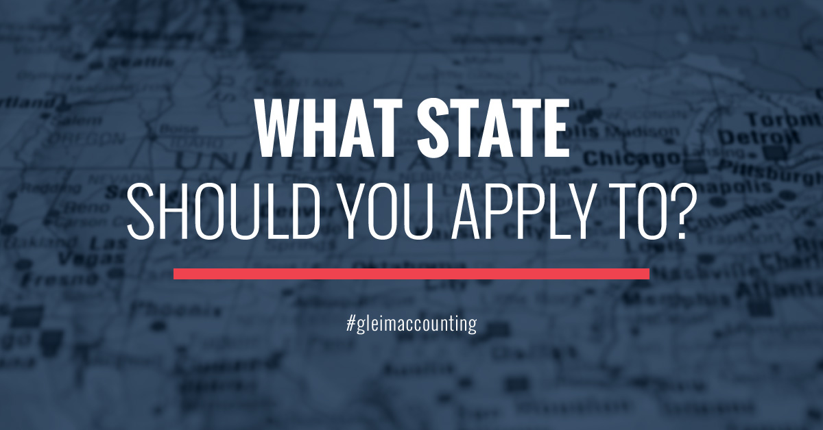 Which state has the easiest education requirements for a CPA license?