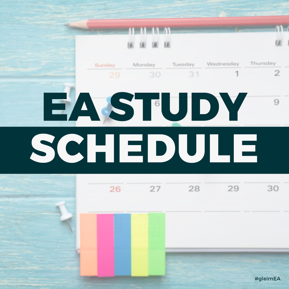 EA study schedule - Pass Enrolled Agent exam before TCJA