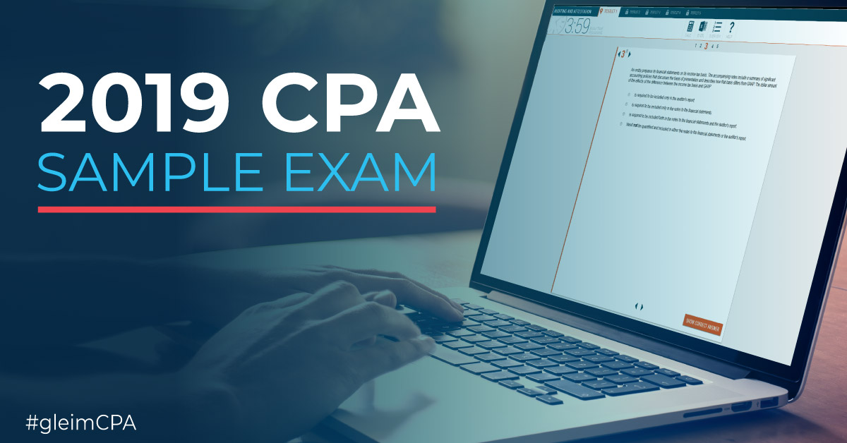 CPA candidate taking the new CPA sample exam