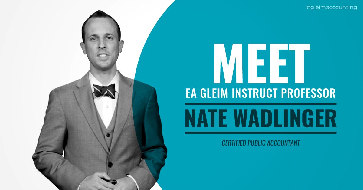 Meet Gleim Video Instructor Nate Wadlinger