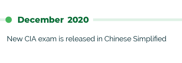 December 2020 New CIA Exam is released in Chinese Simplified