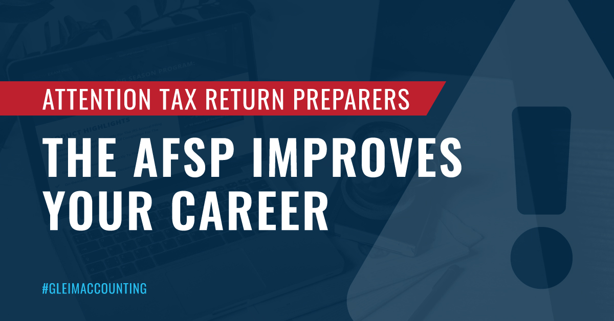 The Annual Filing Season Program improves your career