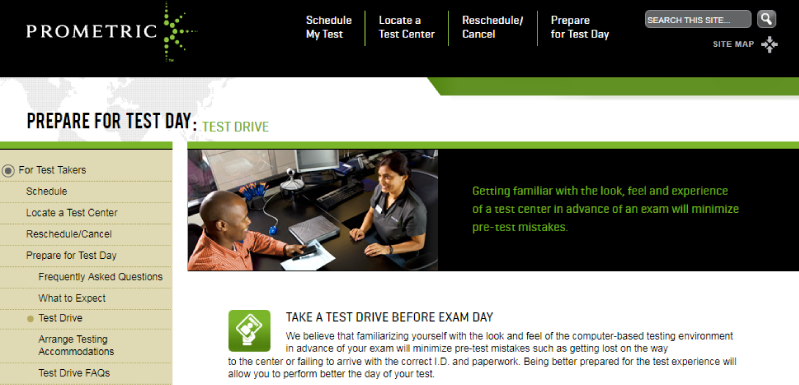 Schedule your CPA Exam test drive with Prometric