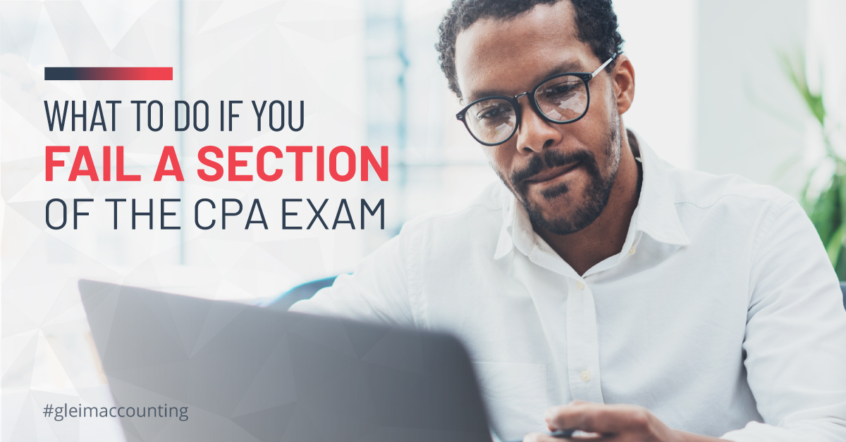 A man disappointed as he sees his failed CPA score report.