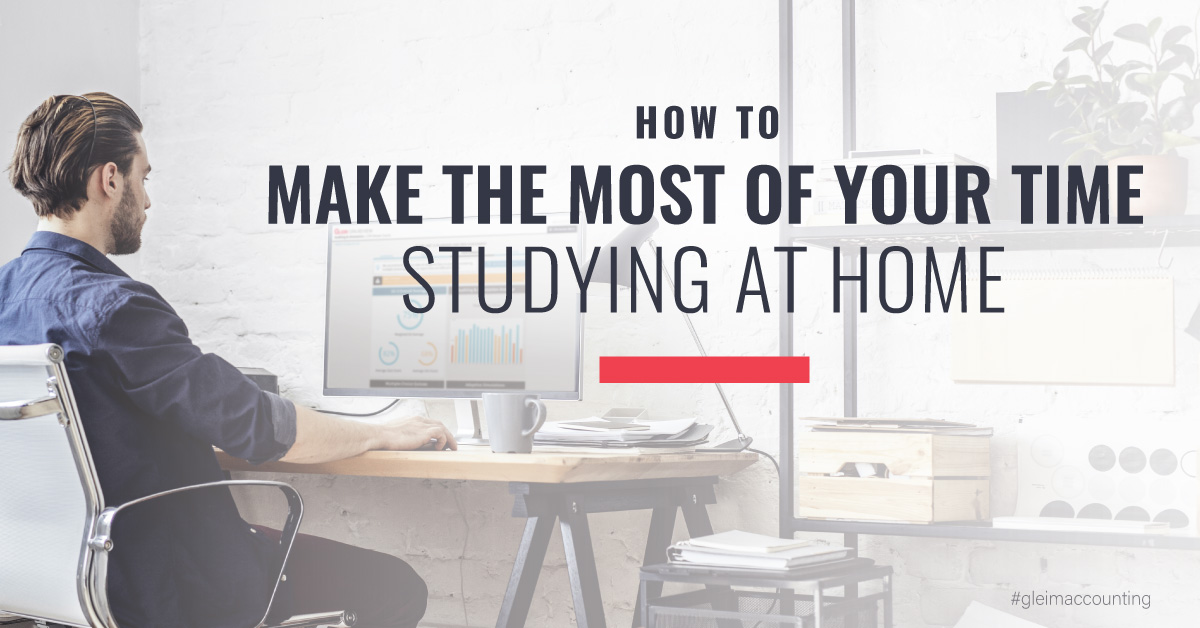 How to make the most of your time studying at home