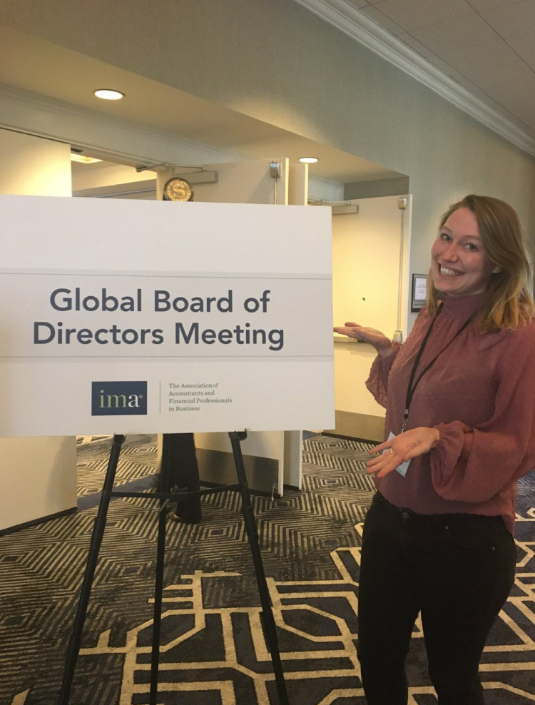 Brigitte de Graaff at Global Board of Directors Meeting at IMA conference.