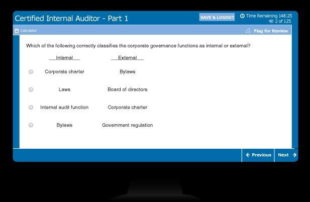 CIA exam sample multiple choice question 2