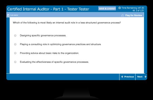 CIA exam sample multiple choice question 3