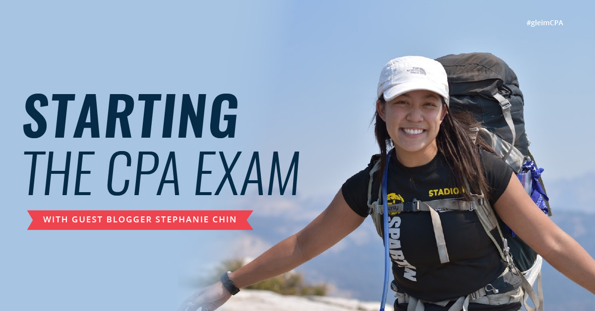 Starting the CPA Exam with guest blogger Stephanie Chin