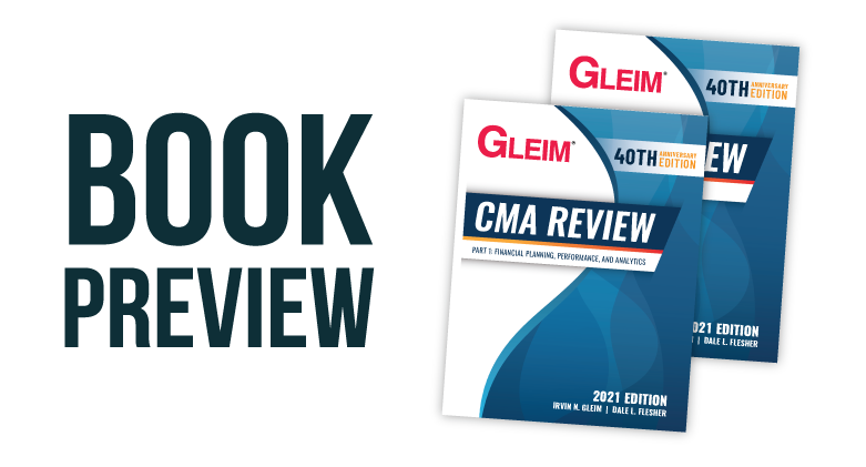 2021 Edition Gleim CMA Review Book Preview