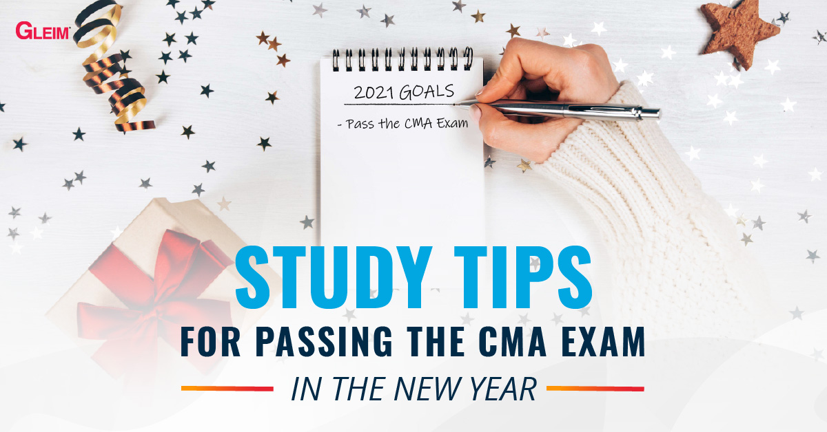 Study tips for passing the CMA exam in the New Year