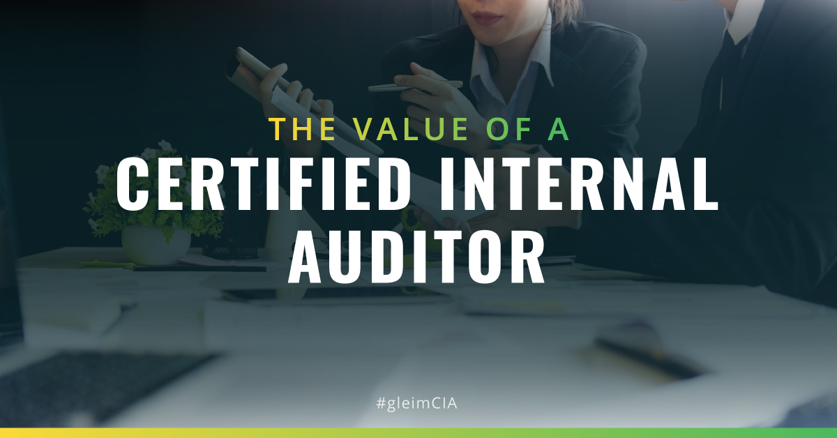 The value of a certified internal auditor (CIA)