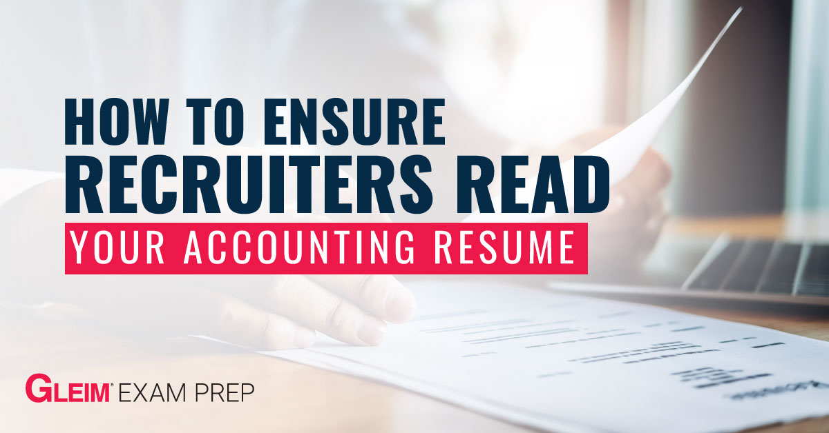 How to ensure recruiters read your accounting resume