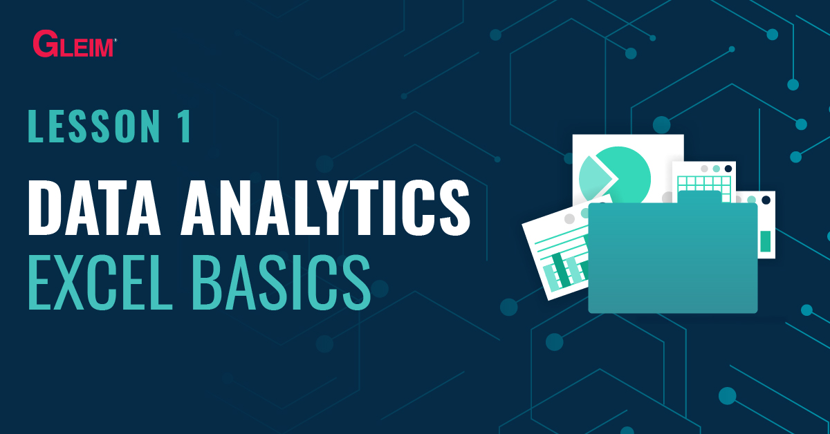 Lesson 1 Data Analytics: Excel Basics