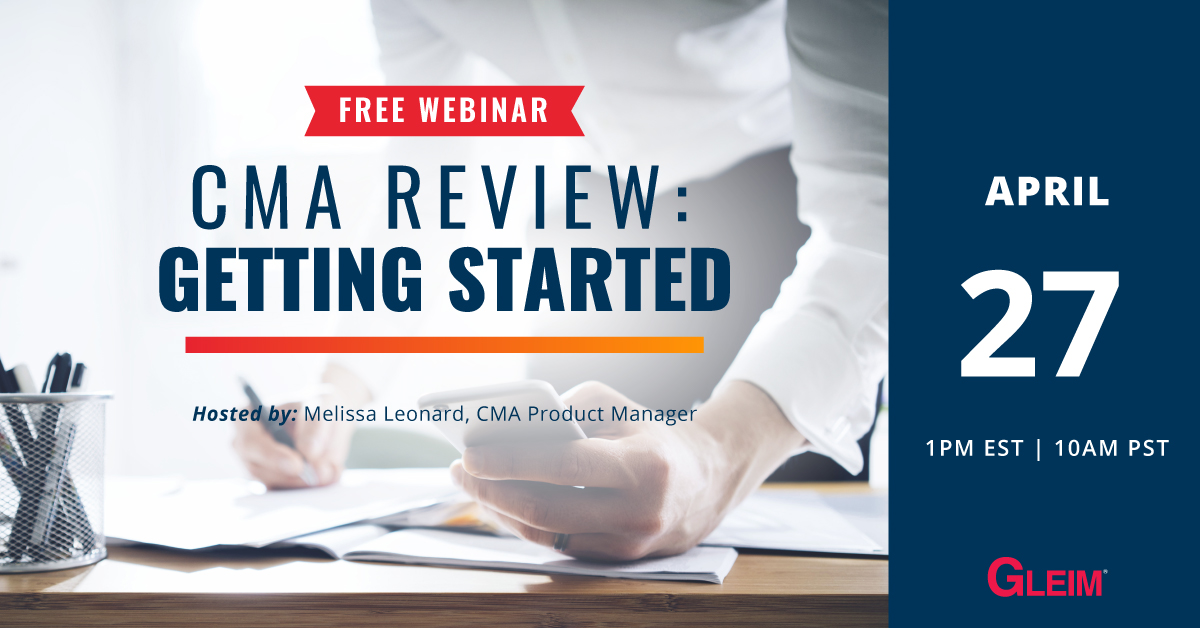Free Webinar   CMA Review: Getting Started   April 27